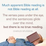 Spurgeon - Not Bible Reading