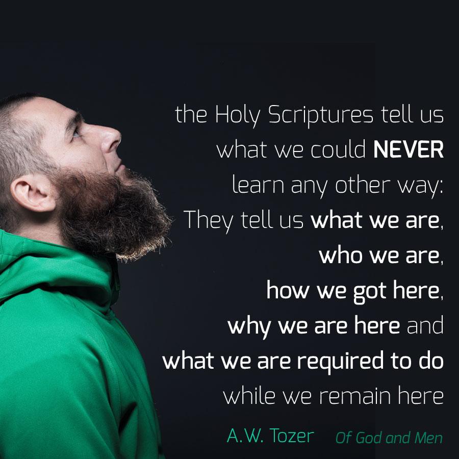 Scripture tells us...